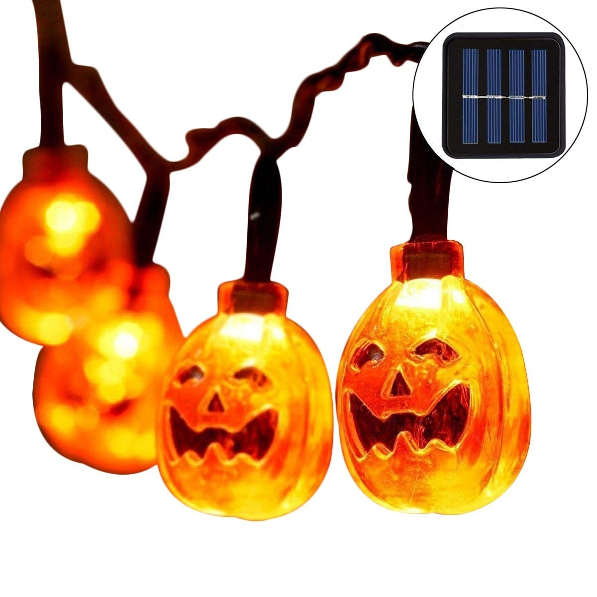 Amazon : Pumpkin String Lights Outdoor Halloween Lights With 30 for Outdoor Pumpkin Lanterns (Image 5 of 20)