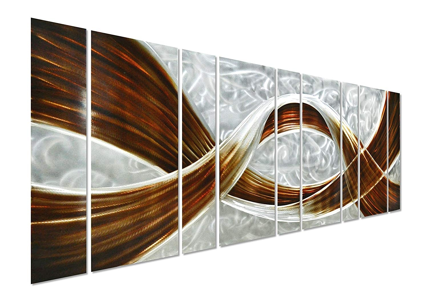 Amazon: Pure Art Caramel Desire Metal Wall Art, Giant Scale with regard to Large Metal Wall Art (Image 3 of 20)