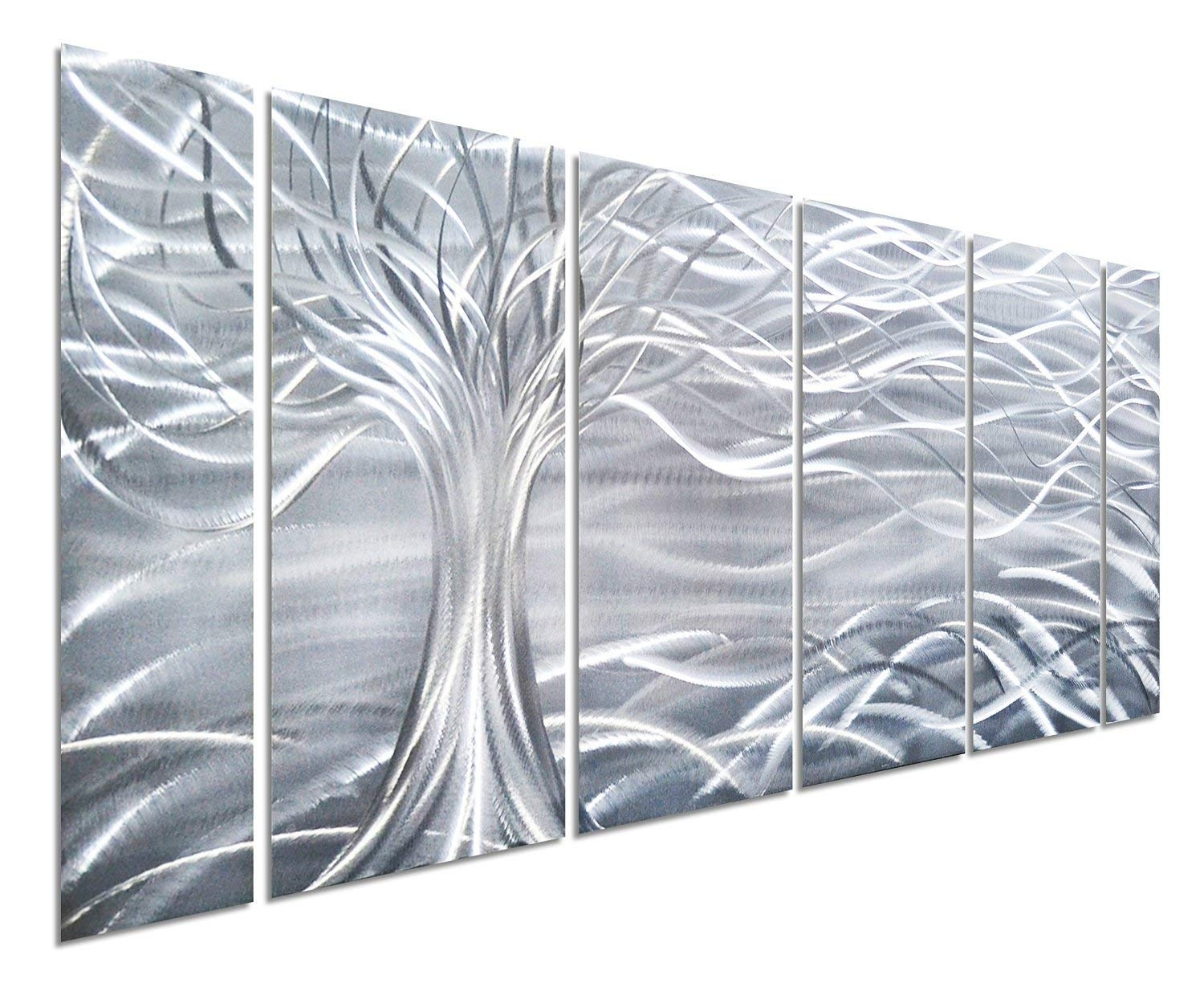 Amazon: Pure Art Willow Tree Of Life Metal Wall Art, Abstract within Metal Wall Art Panels (Image 3 of 20)