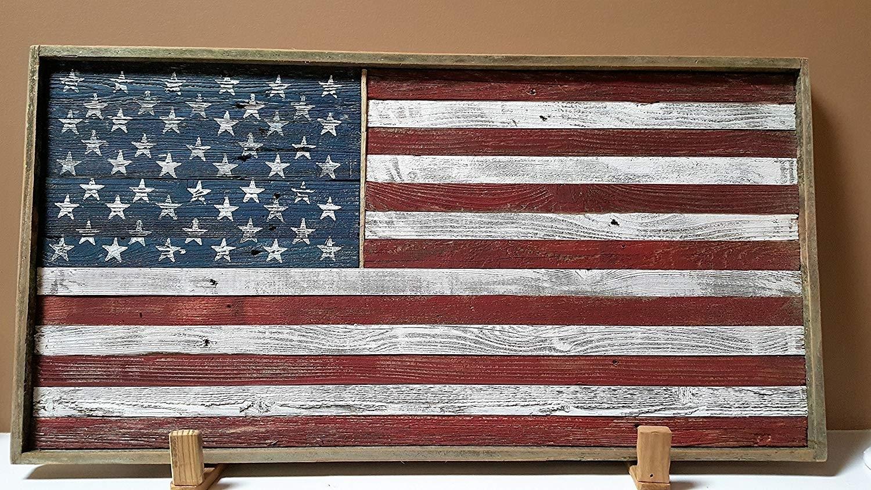 Amazon: Rustic Wood American Flag (framed): Handmade Regarding Rustic American Flag Wall Art (View 19 of 20)