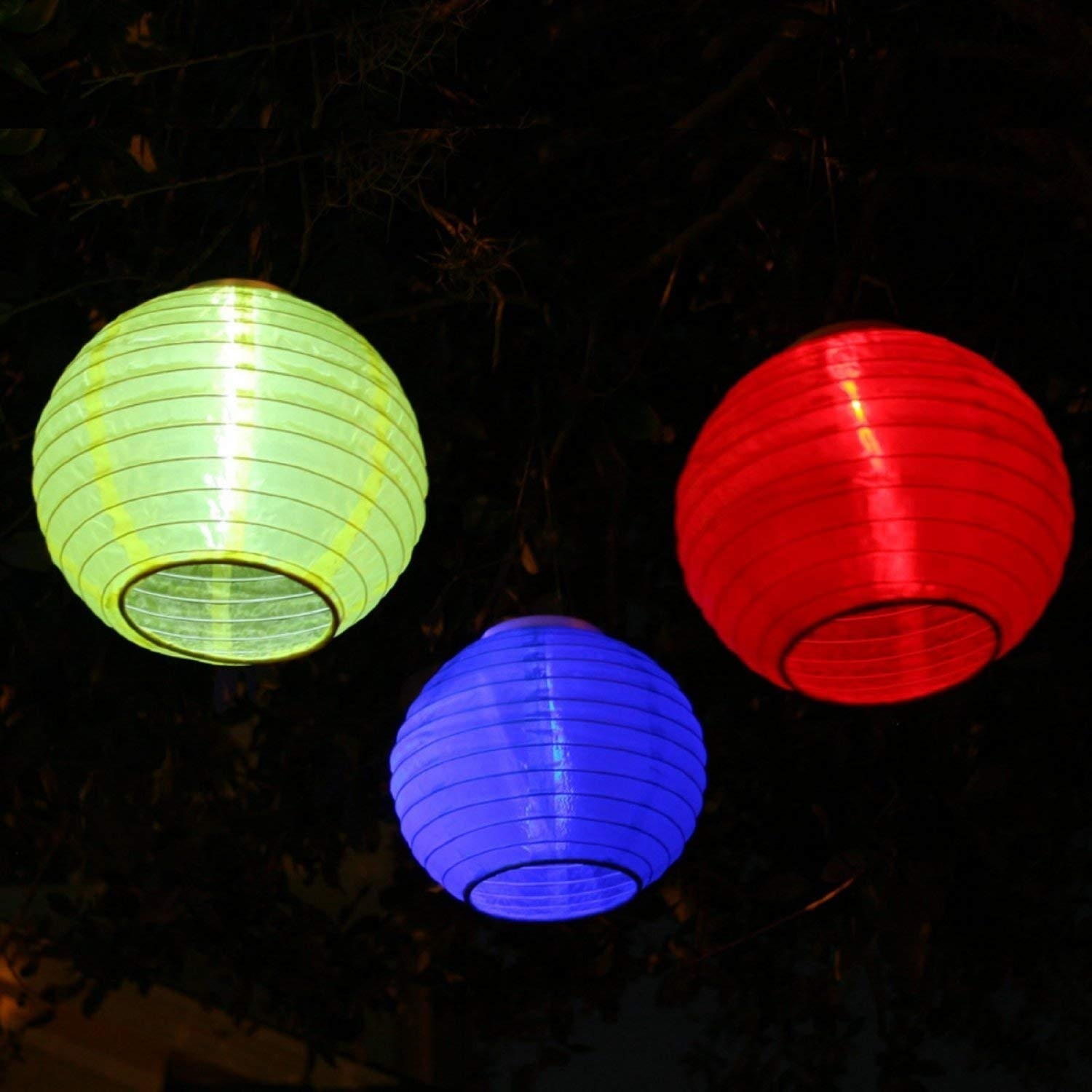 Amazon : Smart Solar 3780Wrm3 Red, Yellow And Blue Chinese Throughout Outdoor Oriental Lanterns (View 2 of 20)