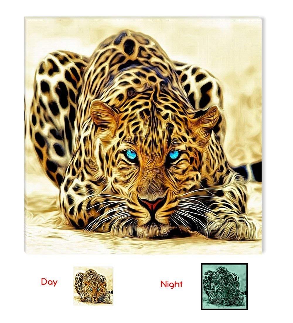 Amazon: Startonight Canvas Wall Art Leopard, Animals Usa Design in Animal Canvas Wall Art (Image 7 of 20)