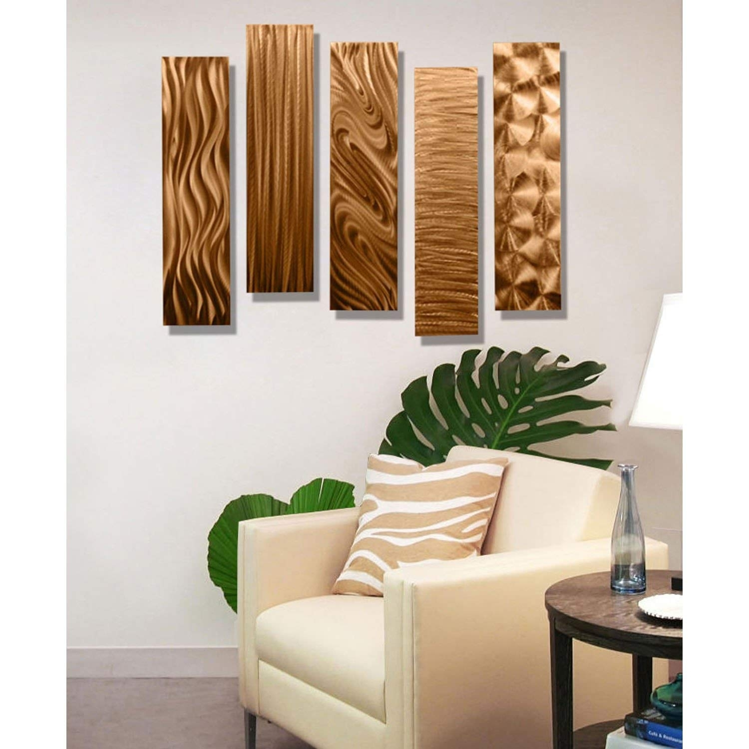 Amazon: Statements2000 Copper Metal Wall Art Decor, 5 Piece Set inside Copper Wall Art (Image 1 of 20)