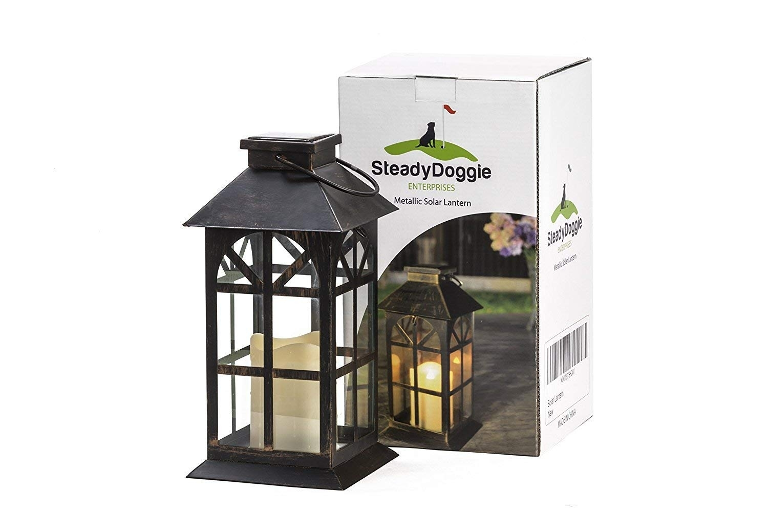 Amazon : Steadydoggie Sports & Outdoors Indoor Outdoor Solar For Vintage Outdoor Lanterns (View 10 of 20)