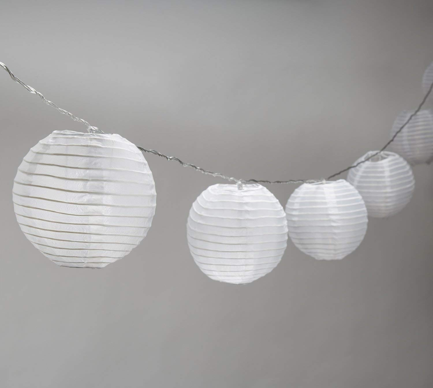 Amazon : Strand Of 10 Lantern String Lights, Connectable, 8 with regard to Jumbo Outdoor Lanterns (Image 2 of 20)