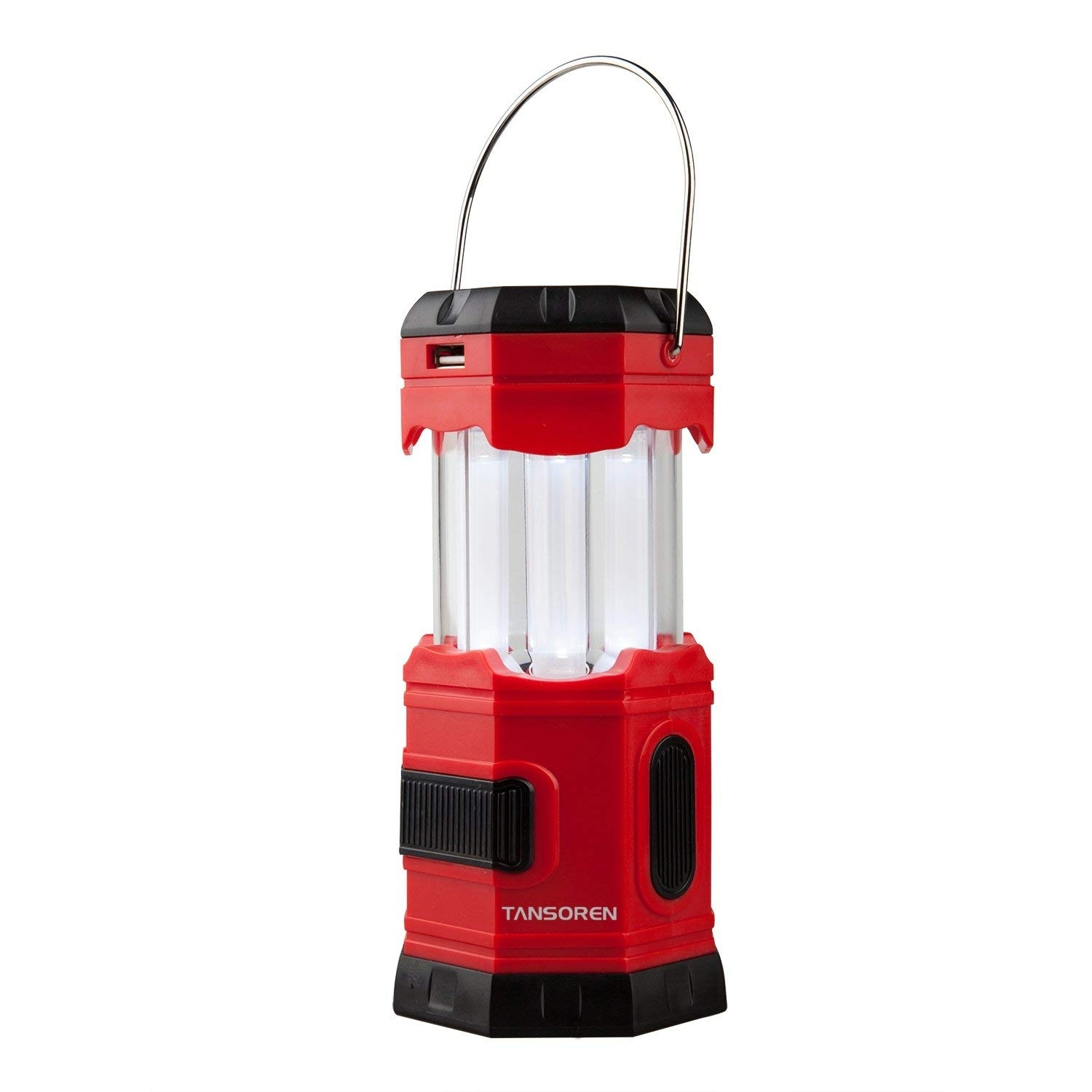 Amazon : Tansoren Portable Led Camping Lantern Solar Usb Within Outdoor Rechargeable Lanterns (View 4 of 20)