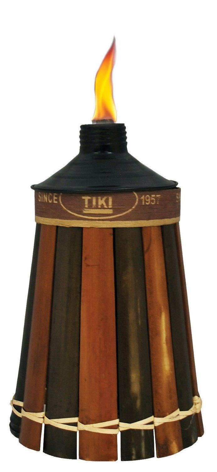 Amazon : Tiki Brand Royal Polynesian Tabletop Bamboo Torch For Outdoor Bamboo Lanterns (View 3 of 20)