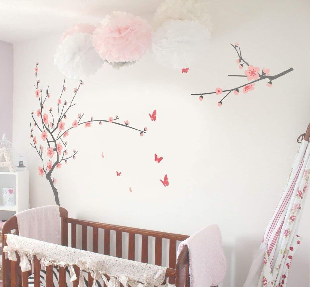Amazon : Tiktak Art Removable Cherry Blossom Japanese Sakura intended for Cherry Blossom Wall Art (Image 3 of 20)