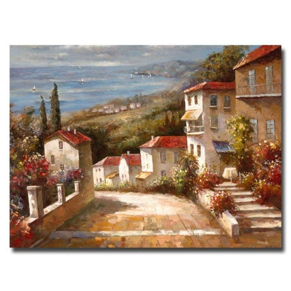 Amazon: Trademark Fine Art Home In Tuscany Artworkjoval, 14 Throughout Tuscan Wall Art (View 10 of 20)