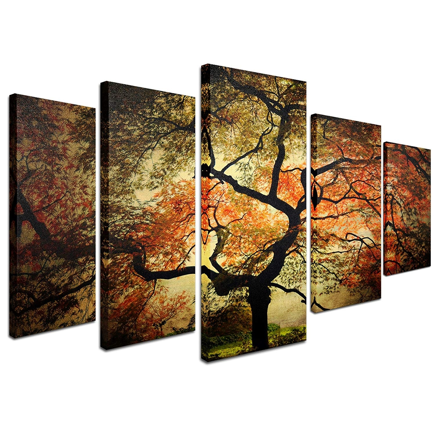 """Amazon: Trademark Fine Art """"japanese Multi Panel Art Set Intended For 5 Piece Wall Art Canvas (View 9 of 20)"""