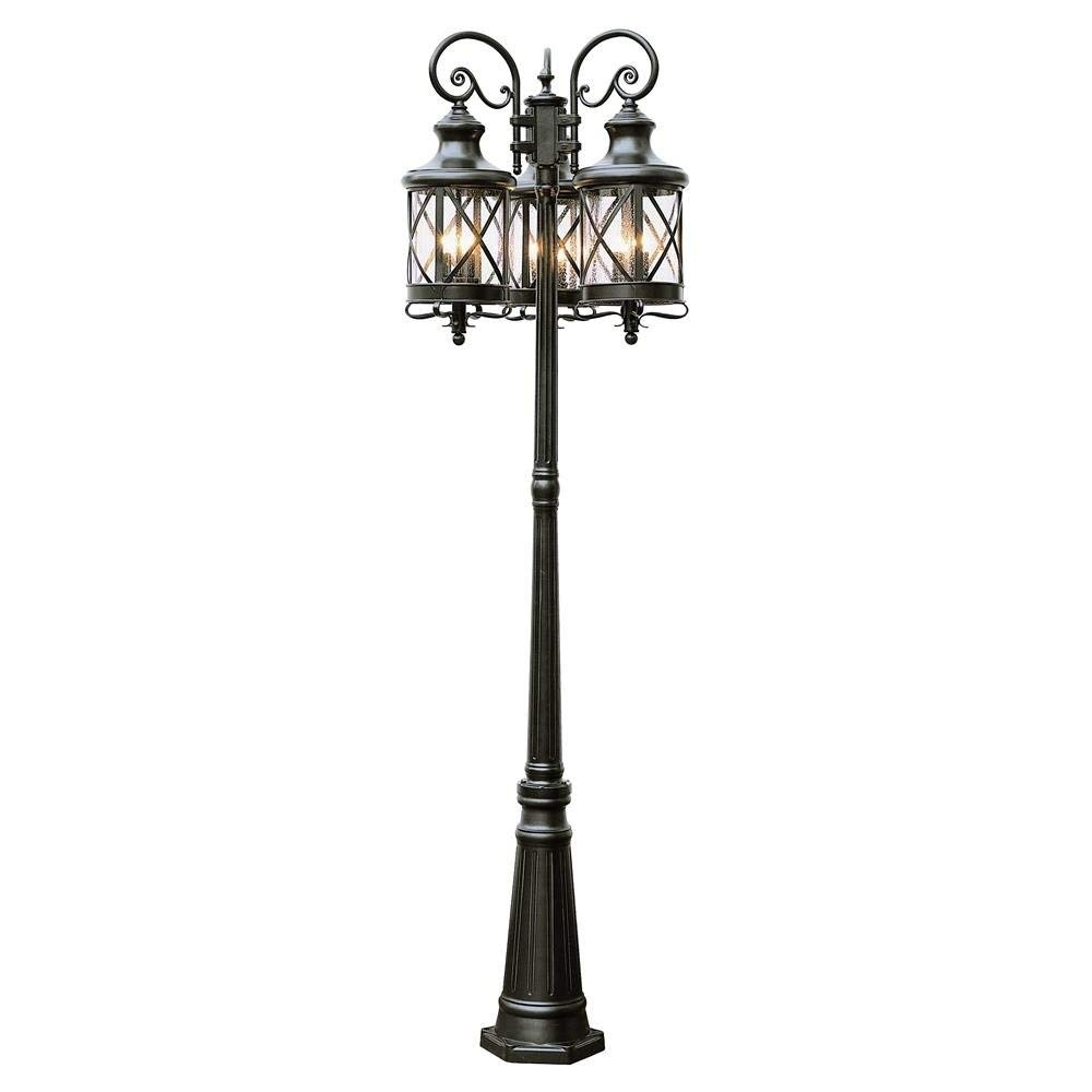 "Amazon : Trans Globe Lighting 5127 Rob Outdoor Chandler 81"" Pole with Outdoor Pole Lanterns (Image 3 of 20)"