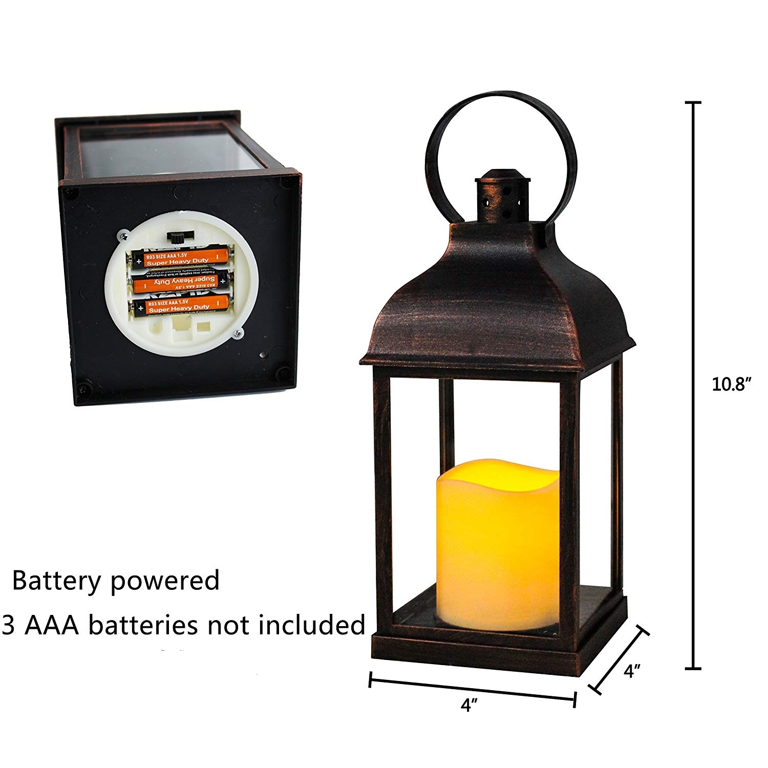 Amazon: Wralwayslx Decorative Lanterns With Flameless Candles In Outdoor Timer Lanterns (View 17 of 20)