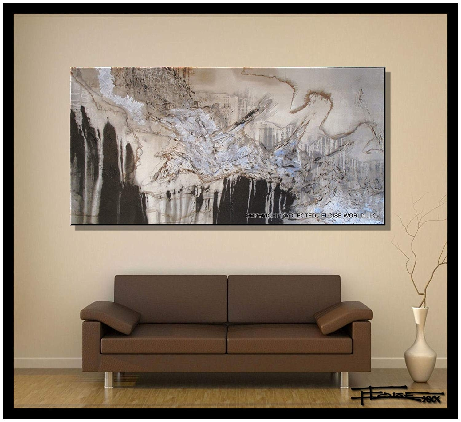"Amazon: Xl Modern Canvas Wall Art - ""emerging Eagle"" Limited within Abstract Canvas Wall Art (Image 7 of 20)"