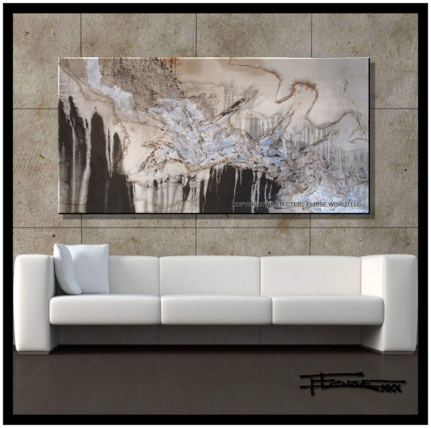 "Amazon: Xl Modern Canvas Wall Art - ""emerging Eagle"" Limited within Contemporary Wall Art (Image 4 of 20)"
