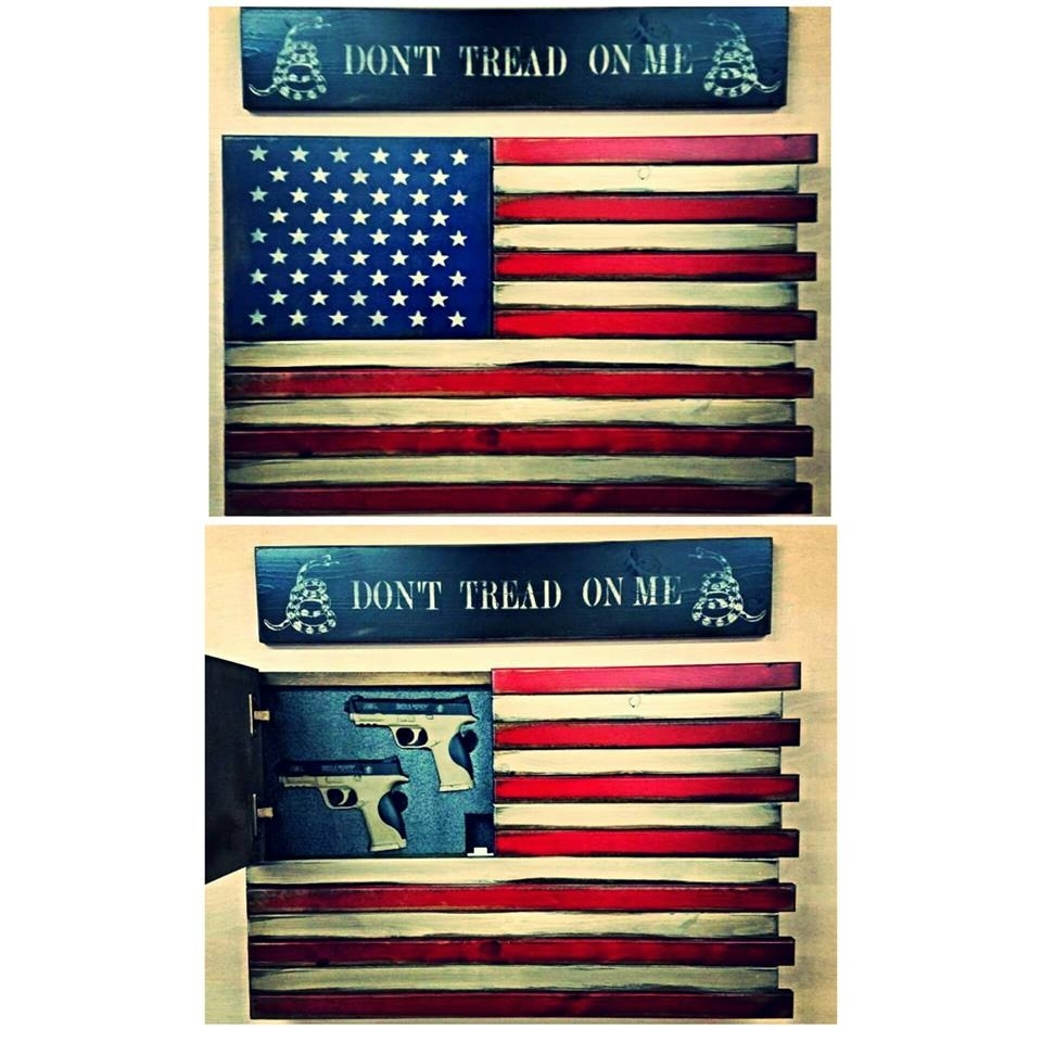 American Flag Home Defense Concealment Wall Art for American Flag Wall Art (Image 5 of 20)