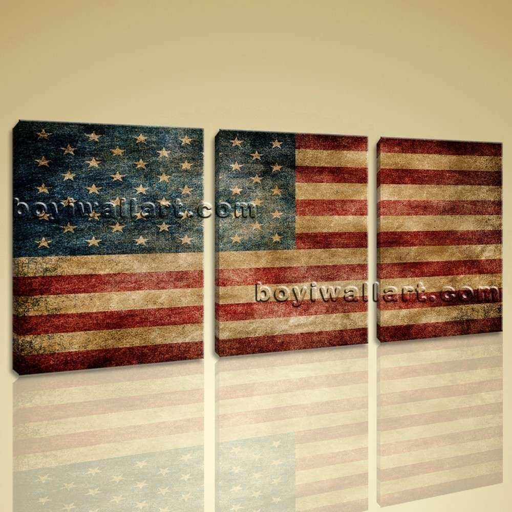 American Flag Wall Decor Best Of Vintage American Flag Other regarding Vintage American Flag Wall Art (Image 3 of 20)