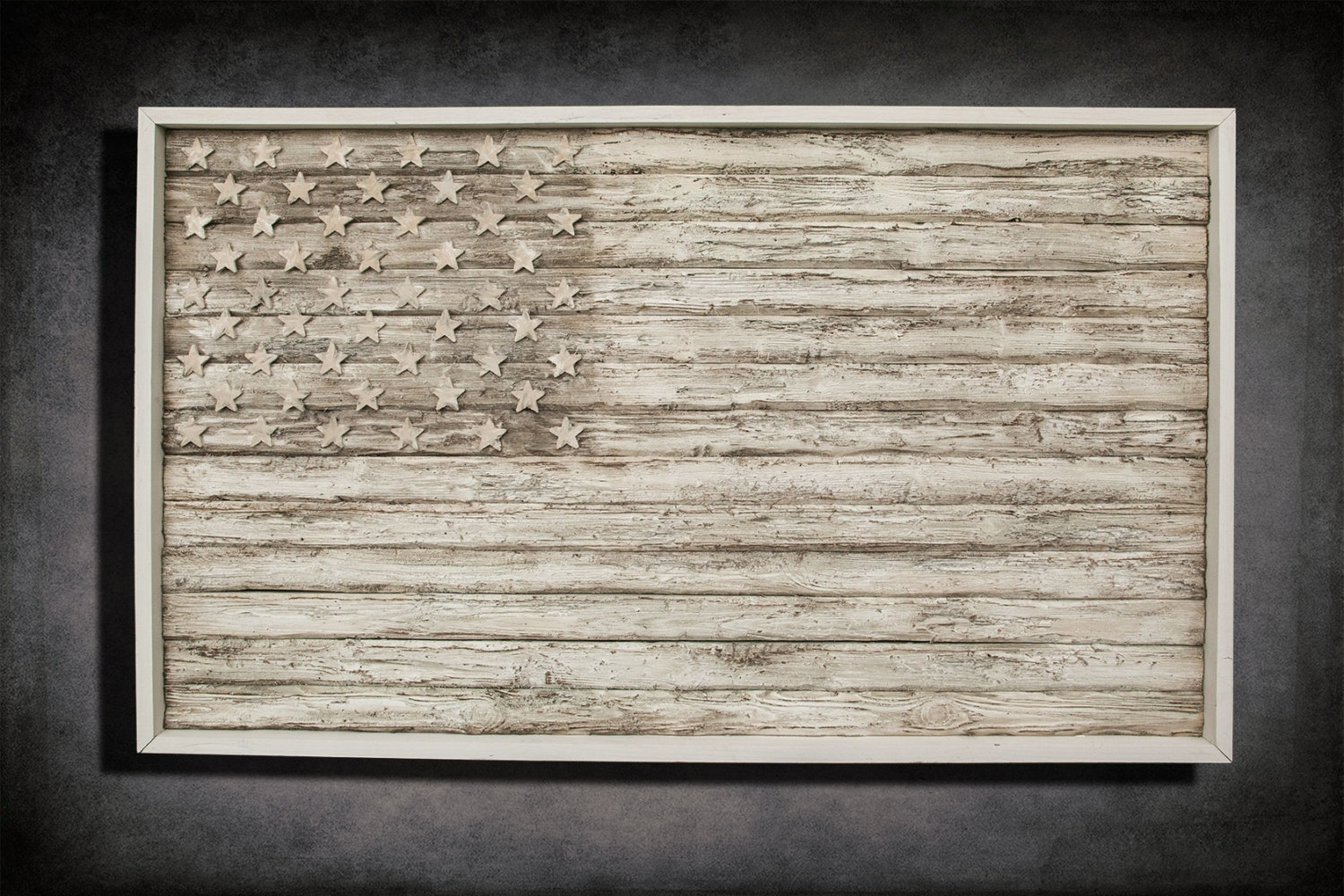 American Flag, Weathered Wood, One Of A Kind, 3D, Wooden, Vintage pertaining to Vintage American Flag Wall Art (Image 4 of 20)