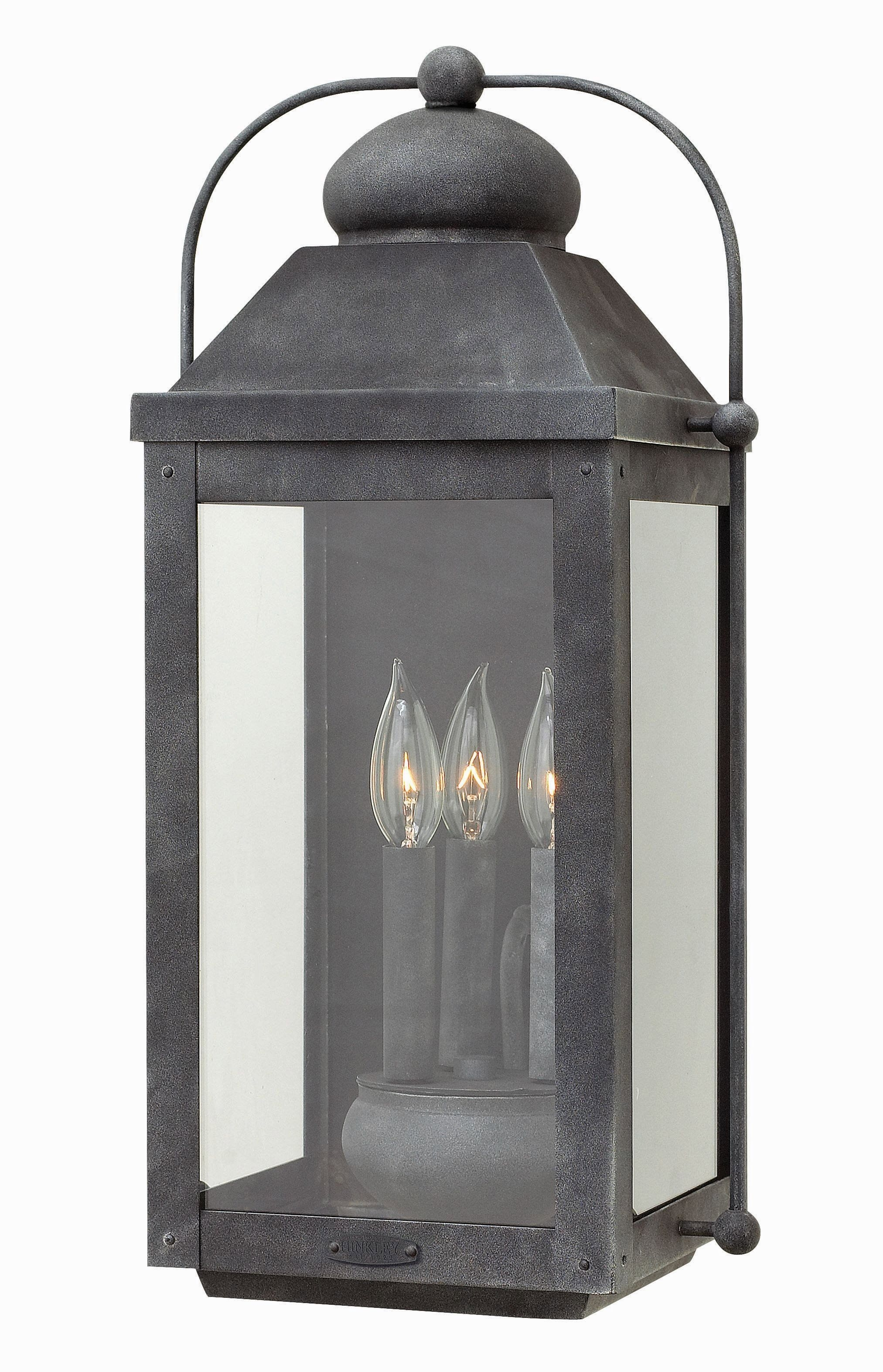 Anchorage - Three Light Outdoor Wall Mount | Lighting | Pinterest with Wall Mounted Outdoor Lanterns (Image 1 of 20)