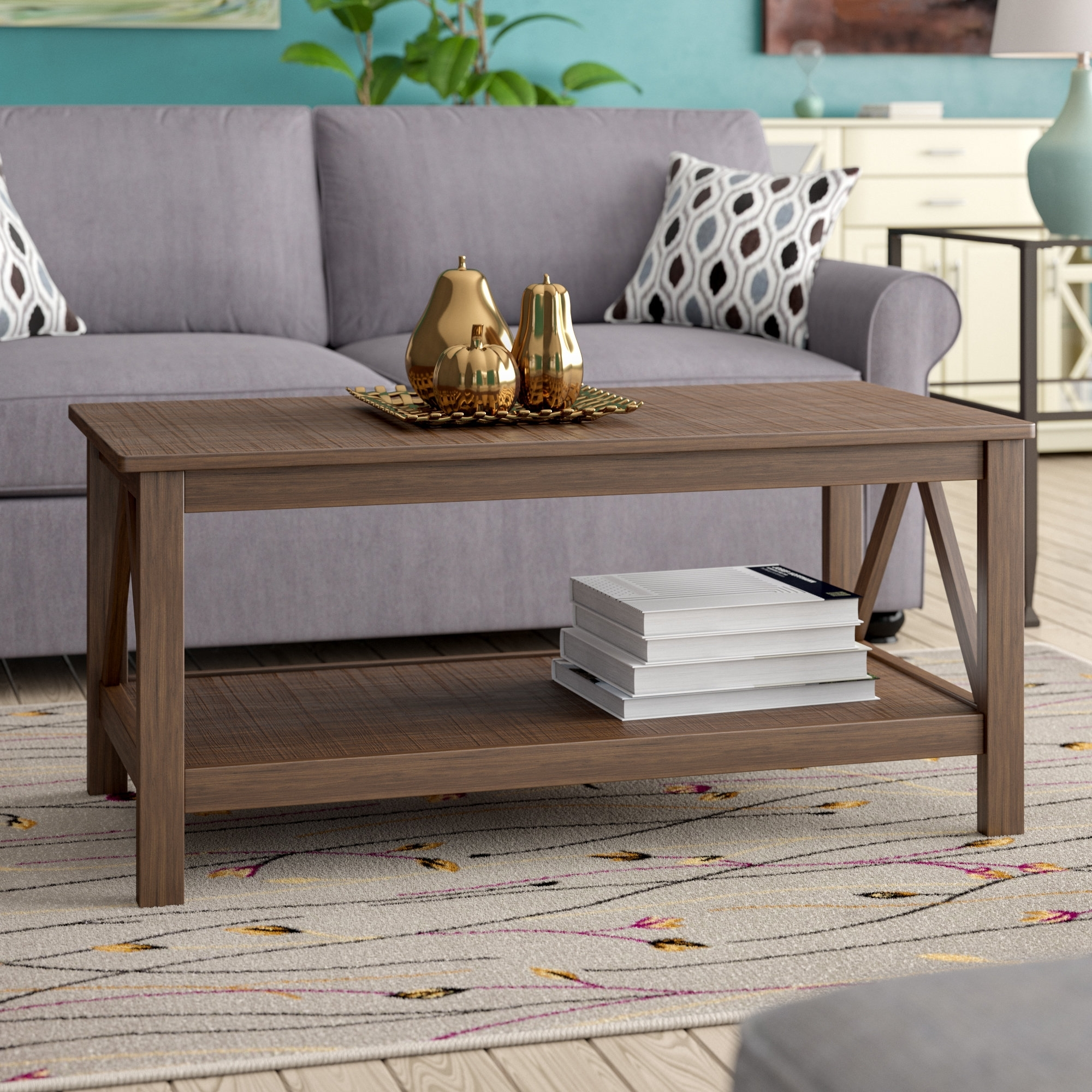 Andover Mills Soule Coffee Table & Reviews | Wayfair with regard to Element Ivory Rectangular Coffee Tables (Image 2 of 30)