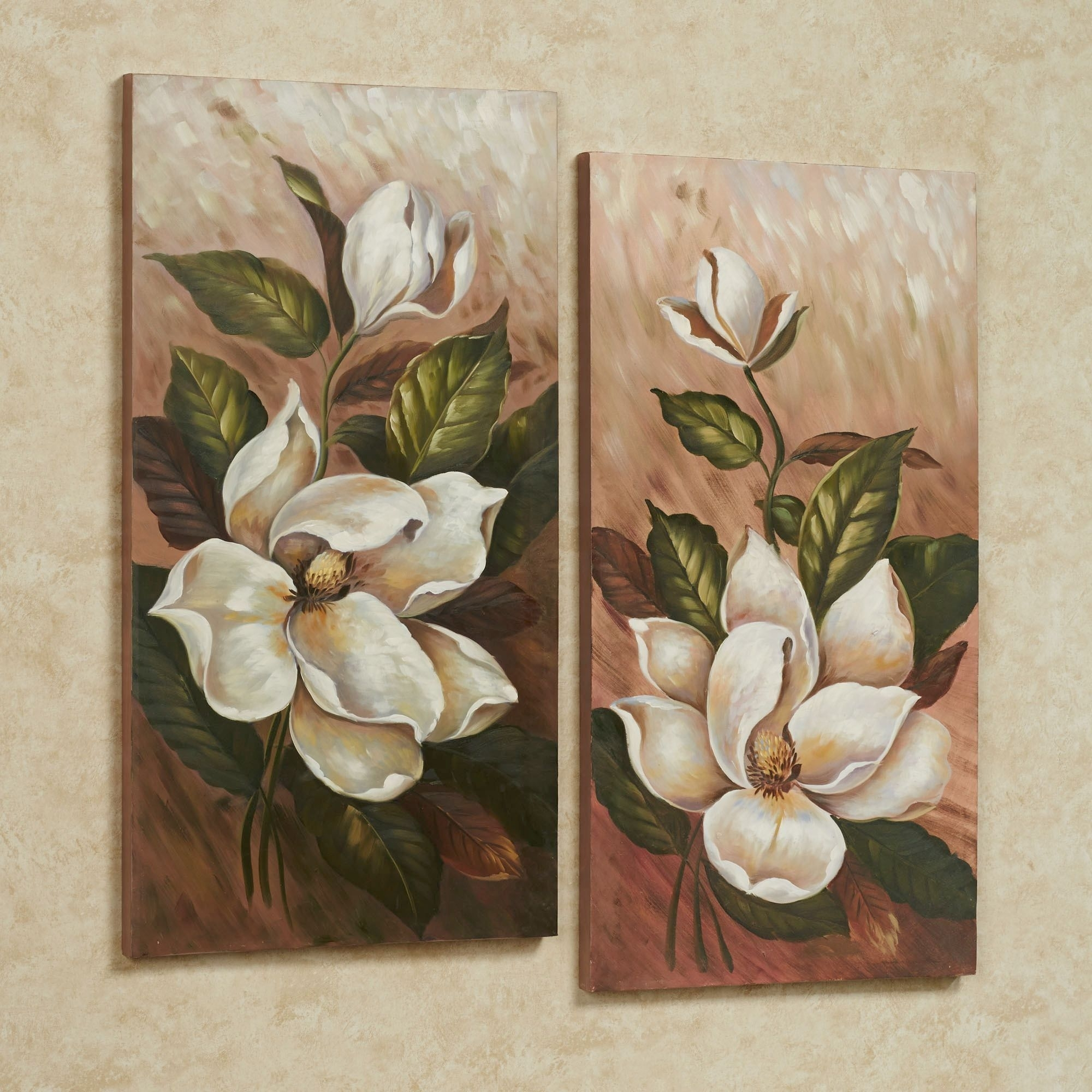 Annalynn Magnolia Floral Canvas Wall Art Set | Artistic | Pinterest Intended For Canvas Wall Art Sets (View 3 of 20)