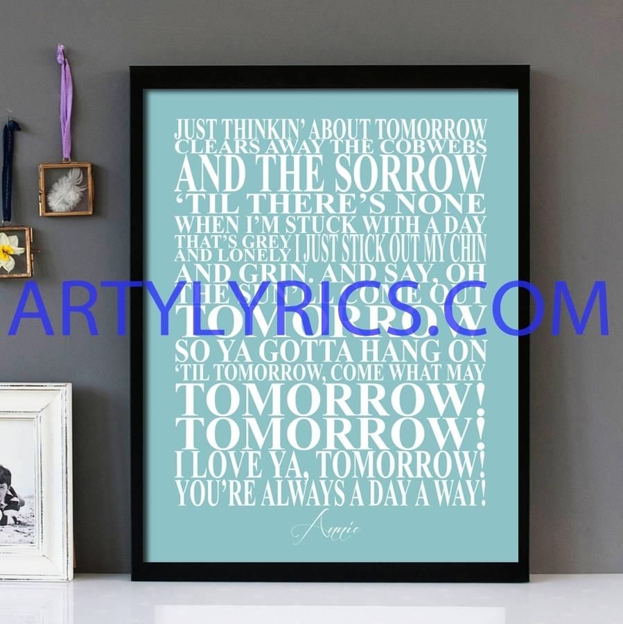 "Annie's Song"" Annie – Framed Lyrics Wall Art Design - Lyrics Art in Song Lyric Wall Art (Image 3 of 20)"