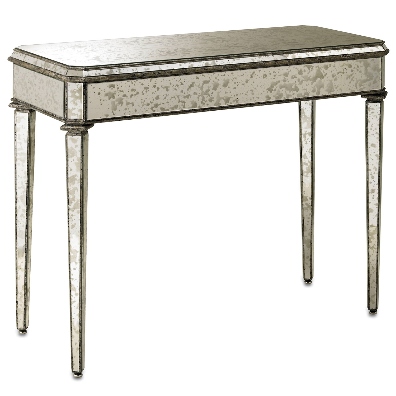 Antique And Vintage Old Mirrored Entry Console Table For Rustic inside Antiqued Art Deco Coffee Tables (Image 3 of 30)