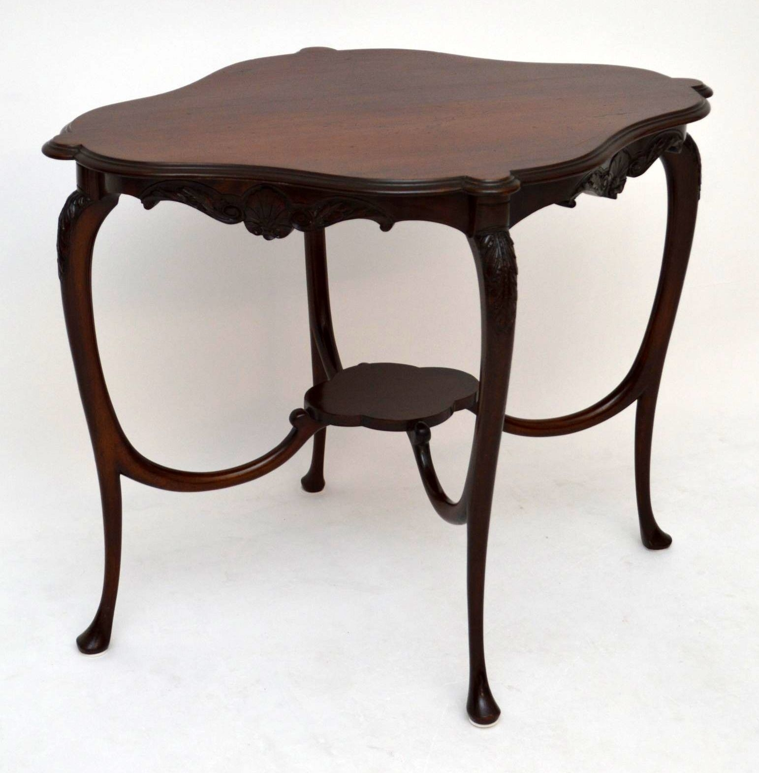 Antique Art Nouveau Mahogany Occasional Table | Marylebone Antiques with regard to Antiqued Art Deco Coffee Tables (Image 4 of 30)