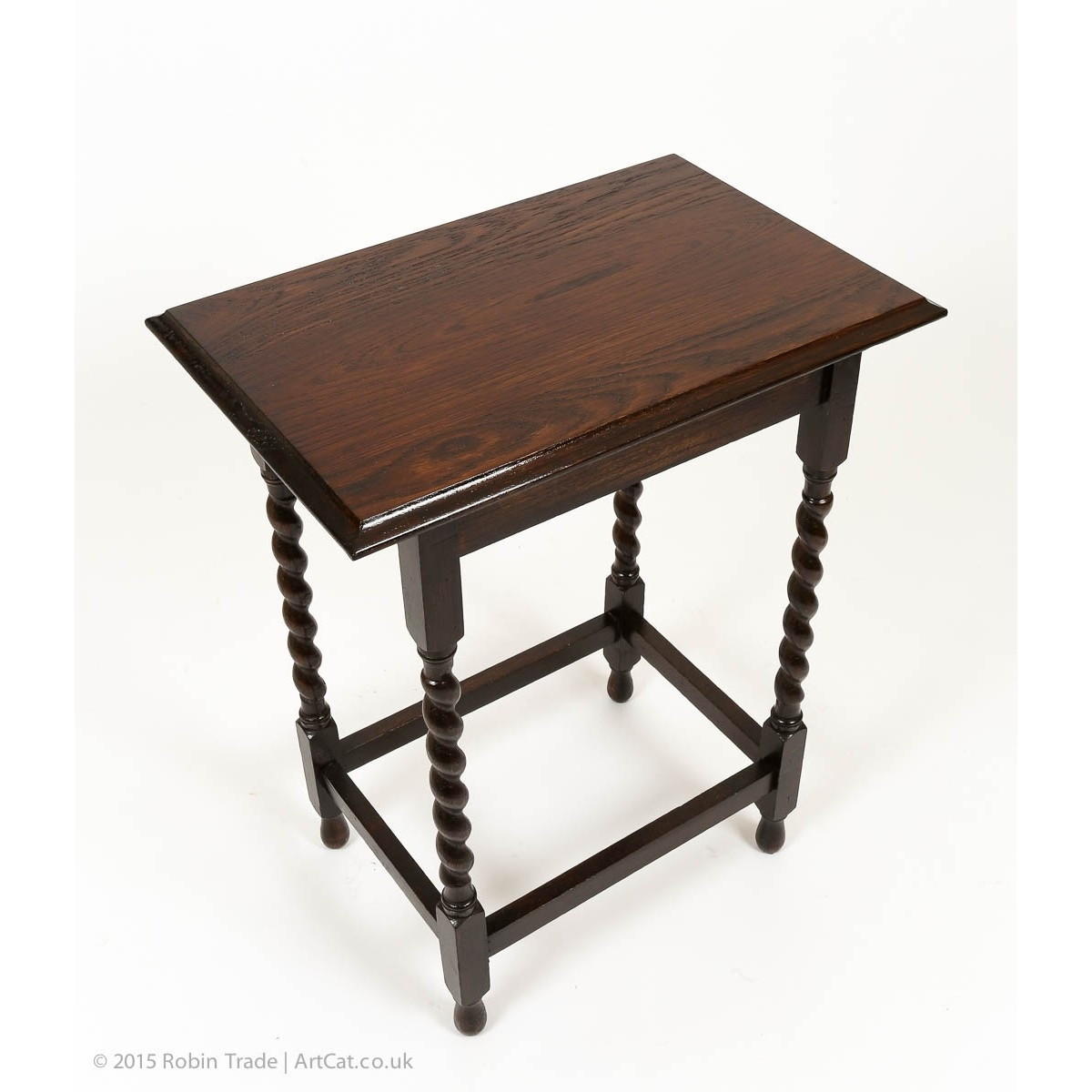 Antique Early 20Th Century Small Side Table With Barley Twist Legs regarding Barley Twist Coffee Tables (Image 3 of 30)