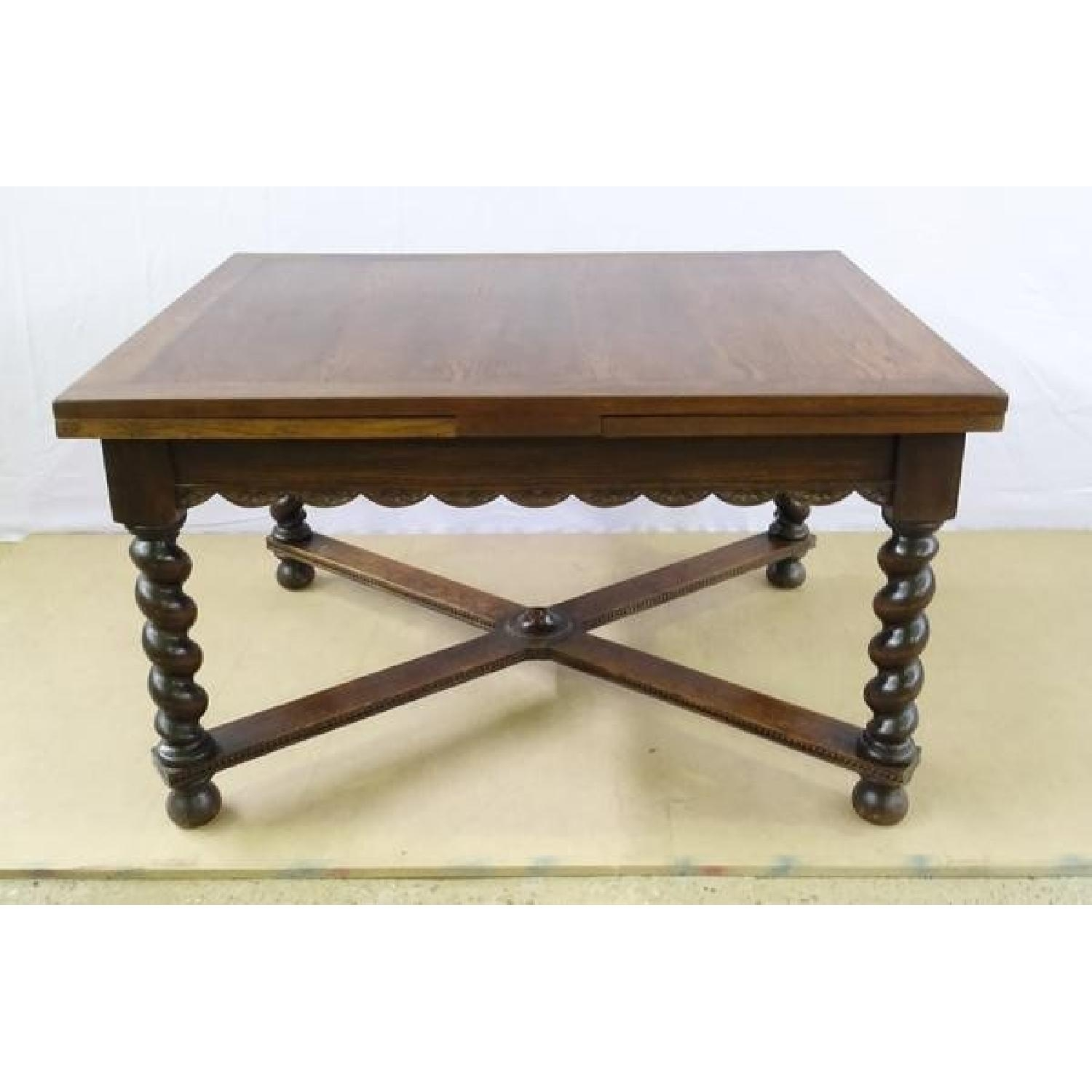 Antique French Extending Barley Twist Oak Dining Table - Aptdeco with Barley Twist Coffee Tables (Image 4 of 30)