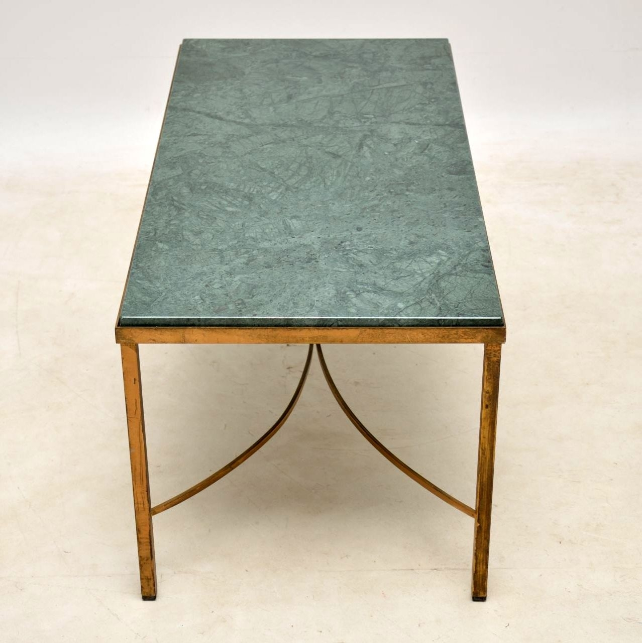 Antique French Marble & Brass Coffee Table | Marylebone Antiques within Mid-Century Modern Marble Coffee Tables (Image 3 of 30)