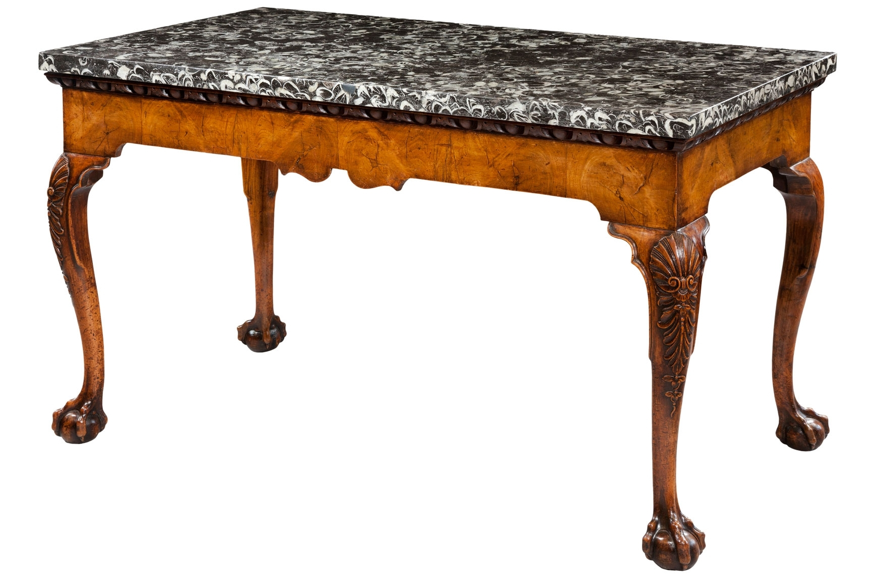 Antique Marble Top Tables with Large Slab Marble Coffee Tables With Antiqued Silver Base (Image 5 of 30)