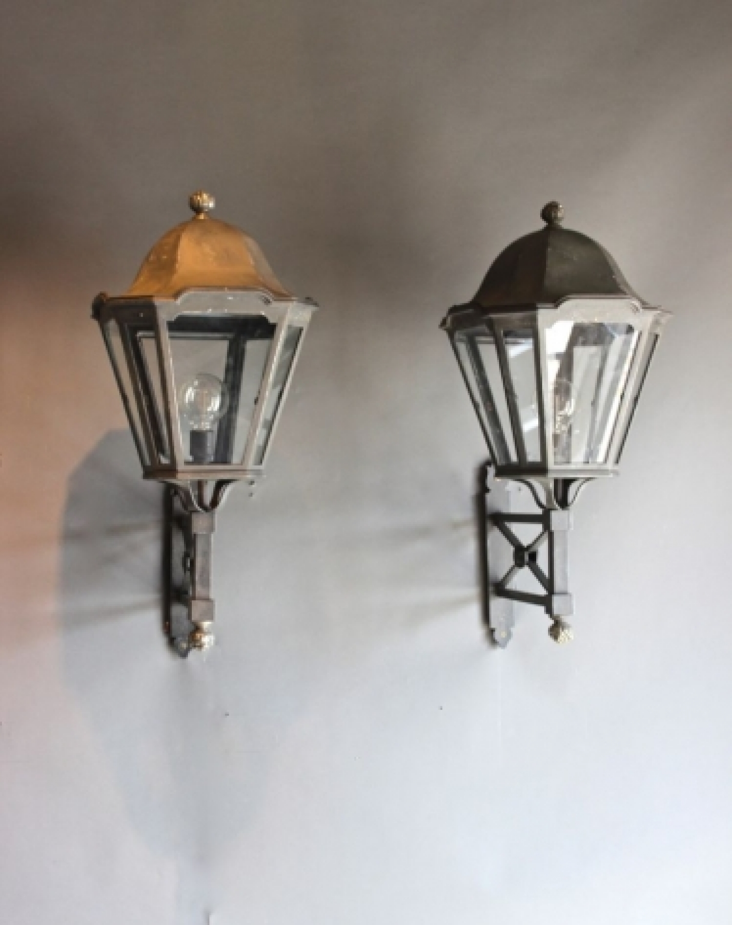 Antique Outside Lighting - Norfolk Decorative Antiques intended for Antique Outdoor Lanterns (Image 4 of 20)