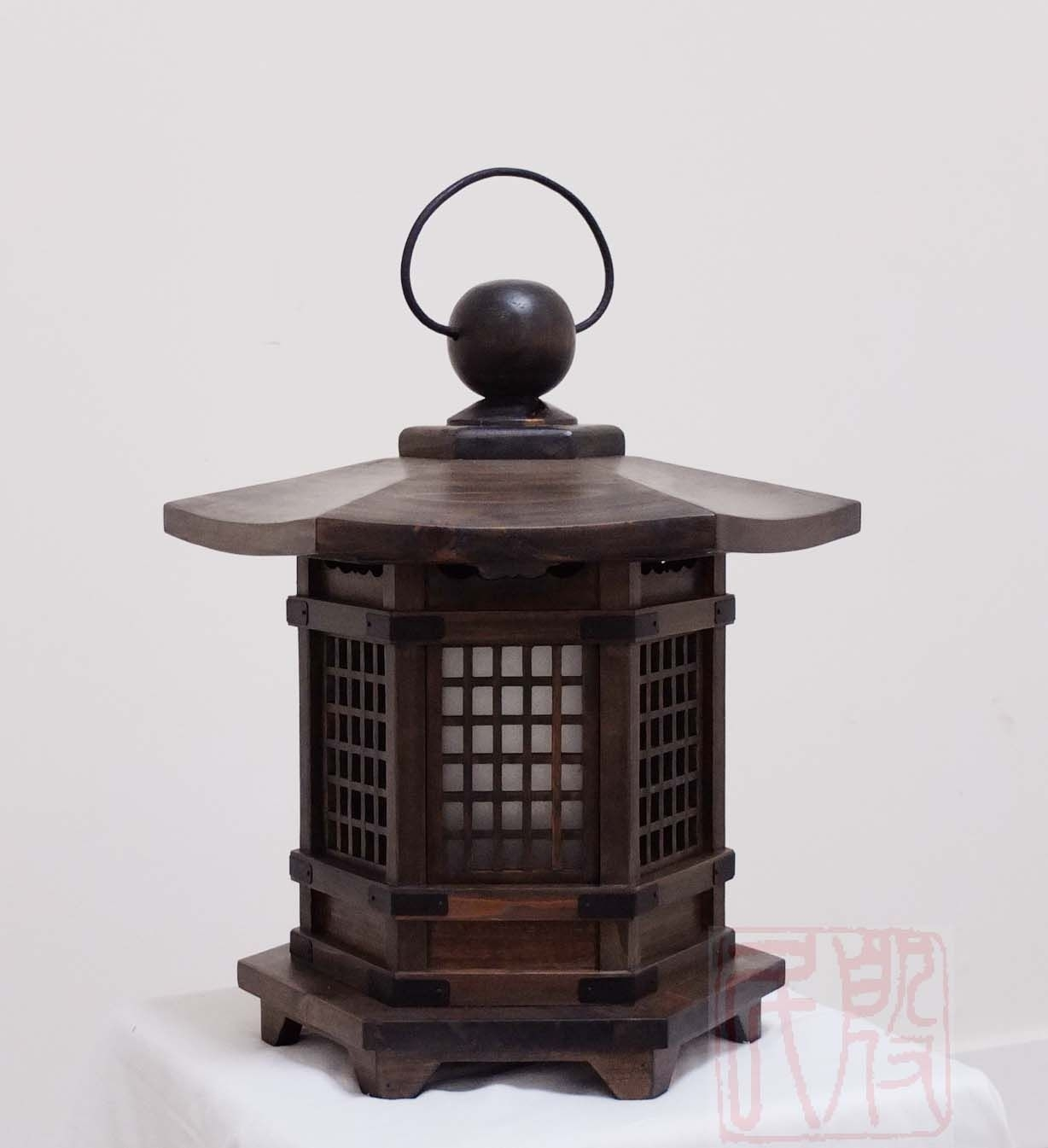 Antique Wood Japanese Lanterns – Google Search … | Wooden Lamp | Pinte… With Outdoor Hanging Japanese Lanterns (View 2 of 20)