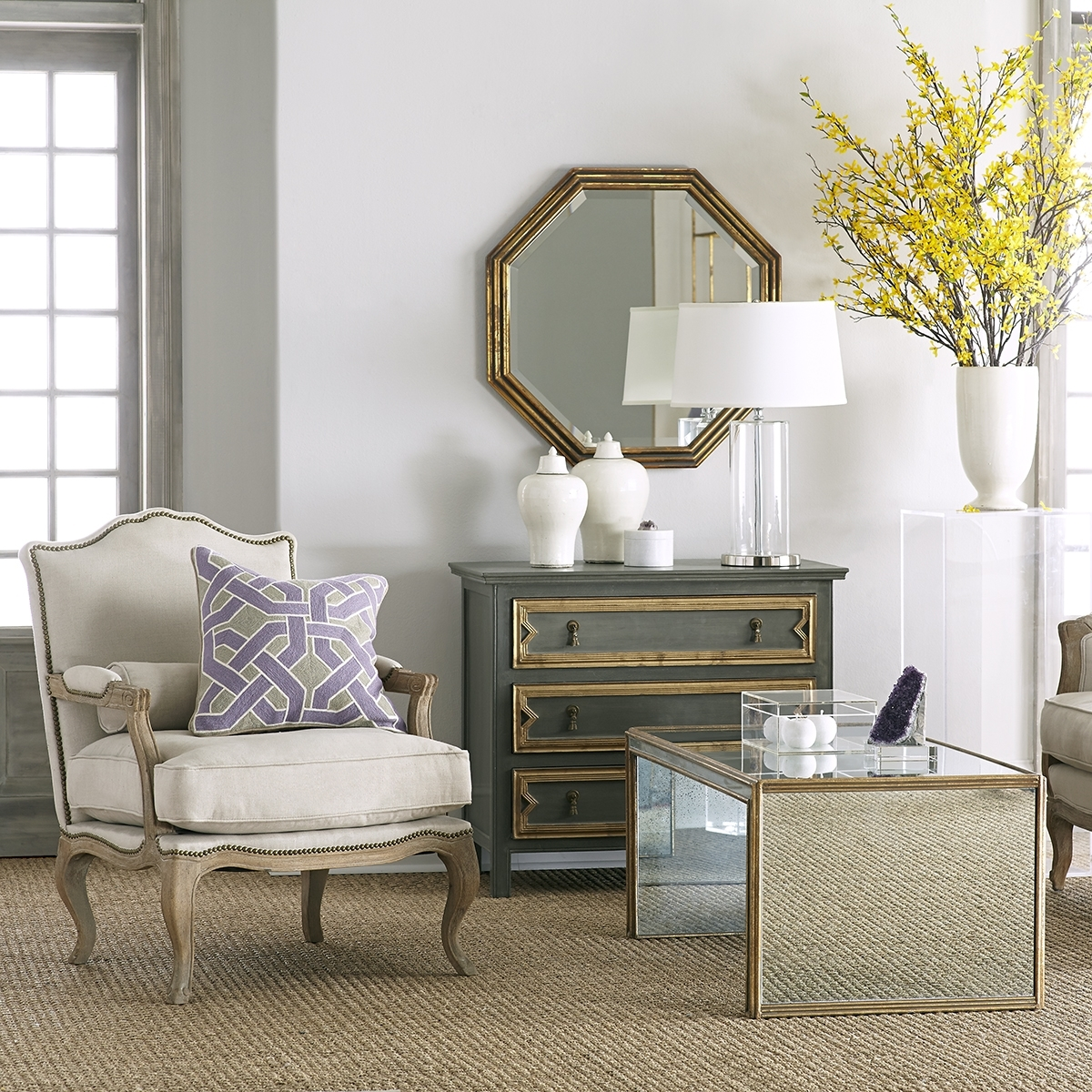 Antiqued Art Deco Coffee Table | Wisteria in Antiqued Art Deco Coffee Tables (Image 7 of 30)