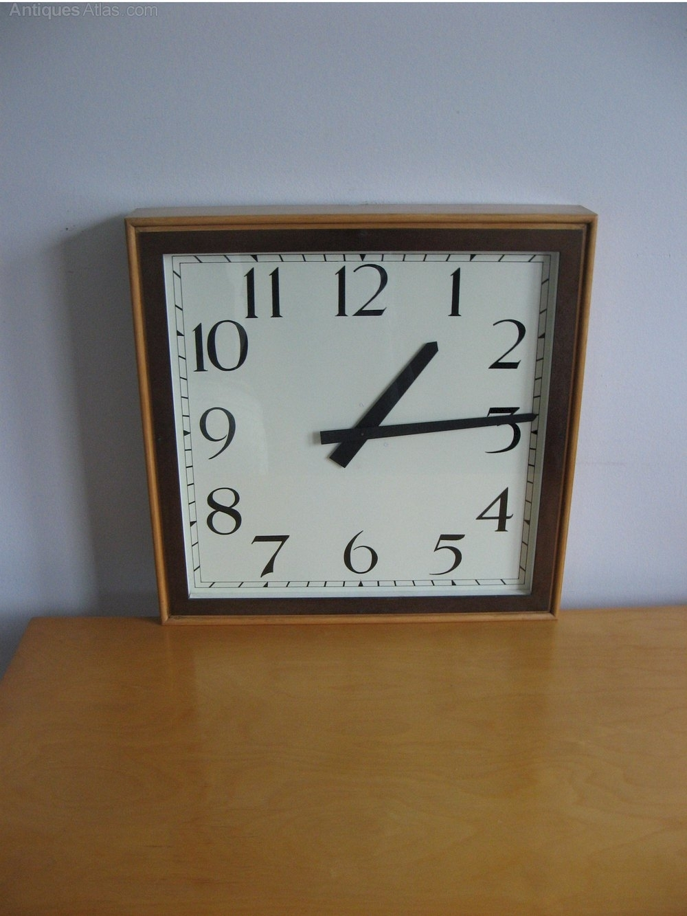 Antiques Atlas - Large Art Deco Wall Clock throughout Art Deco Wall Clock (Image 1 of 20)