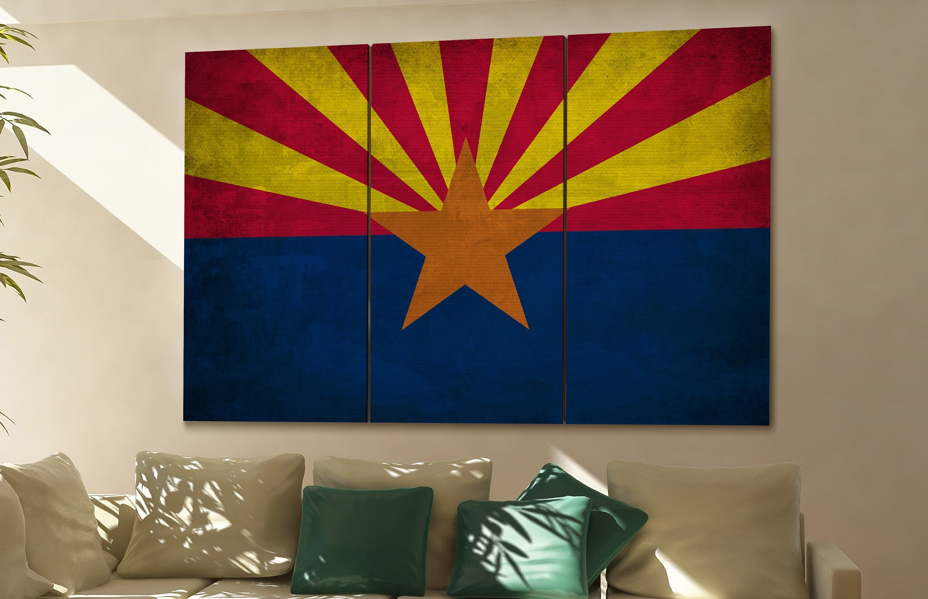 Arizona State Flag Arizona Flag State Of Arizona Arizona Wall Decor within Arizona Wall Art (Image 5 of 20)