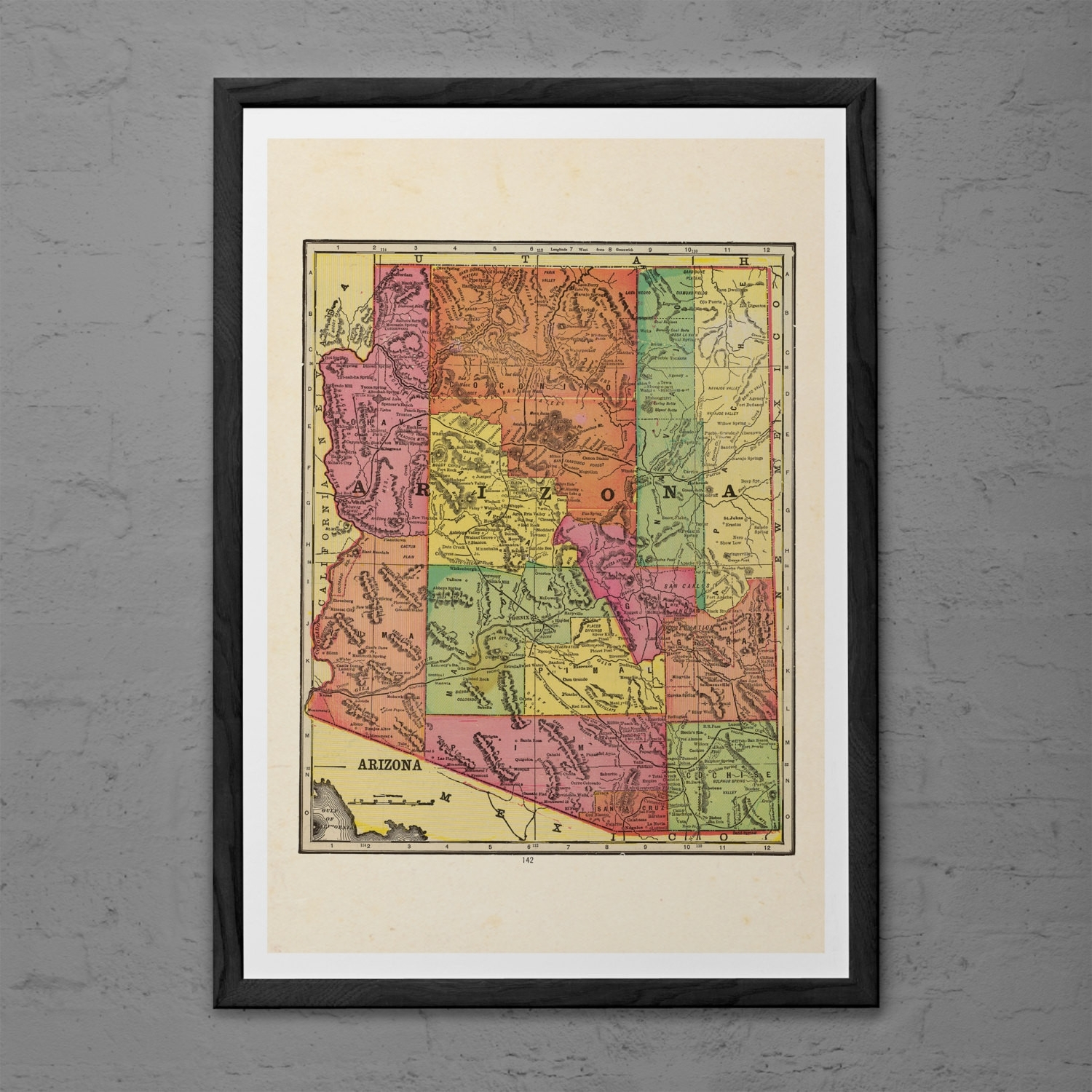 Arizona Wall Decor Awesome Arizona Printable State Wall Art Az Print regarding Arizona Wall Art (Image 11 of 20)
