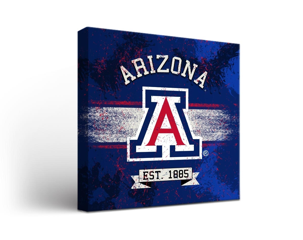 Arizona Wildcats Banner Canvas Wall Art, Arizona Wall Art - Swinki for Arizona Wall Art (Image 12 of 20)