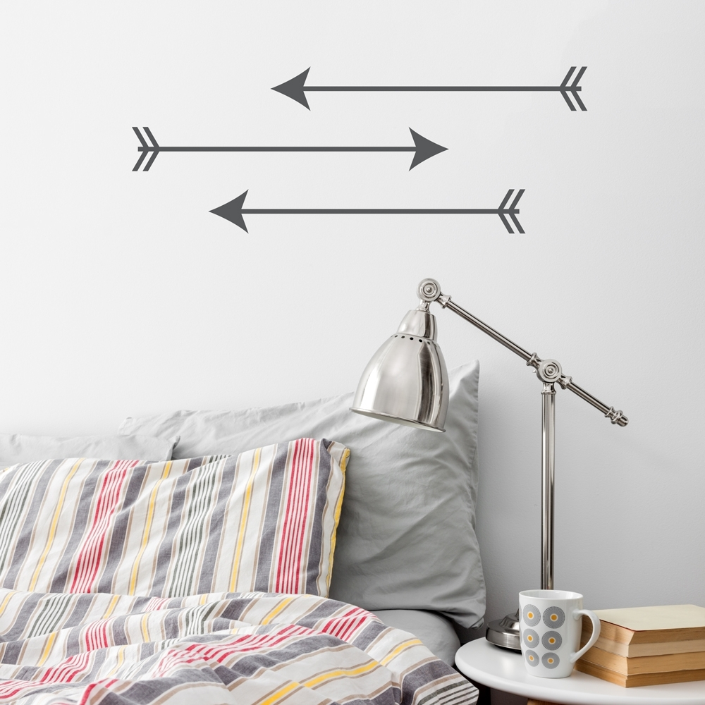 Arrow-Trio Wall Art Decal intended for Arrow Wall Art (Image 6 of 20)