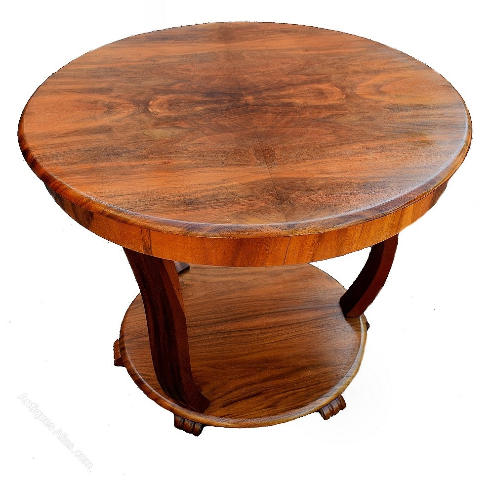 Art Deco Coffee Table In Figured Walnut - Antiques Atlas regarding Antiqued Art Deco Coffee Tables (Image 14 of 30)