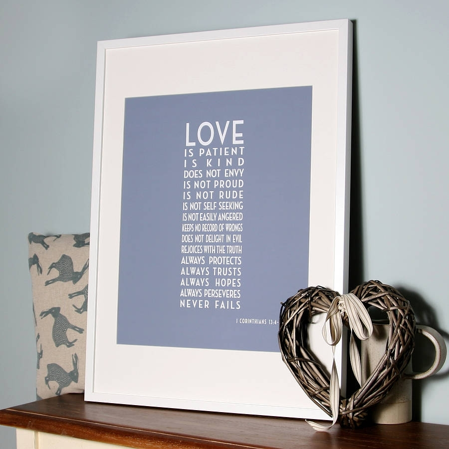 Art Deco 'love Is Patient' Canvas Printhopsack & Olive For Love Is Patient Wall Art (View 8 of 20)