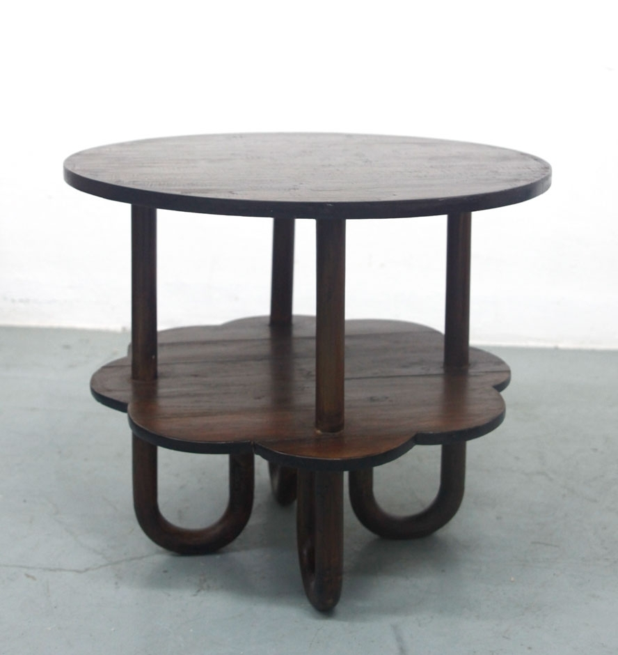 Art Deco Restored Old Teak Round Coffee Table « Things Your Mother regarding Round Teak Coffee Tables (Image 3 of 30)