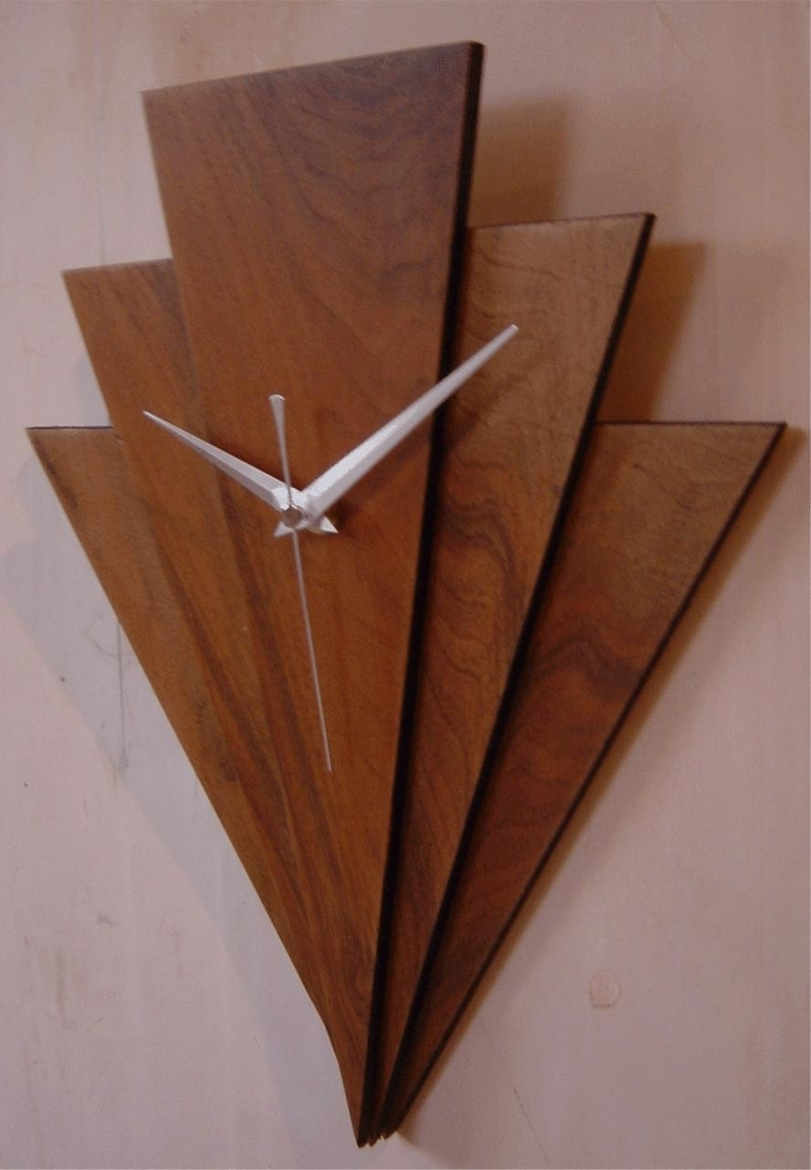 Art Deco Wall Clock Wood : Andrews Living Arts – Unique Art Deco With Regard To Art Deco Wall Art (View 17 of 20)