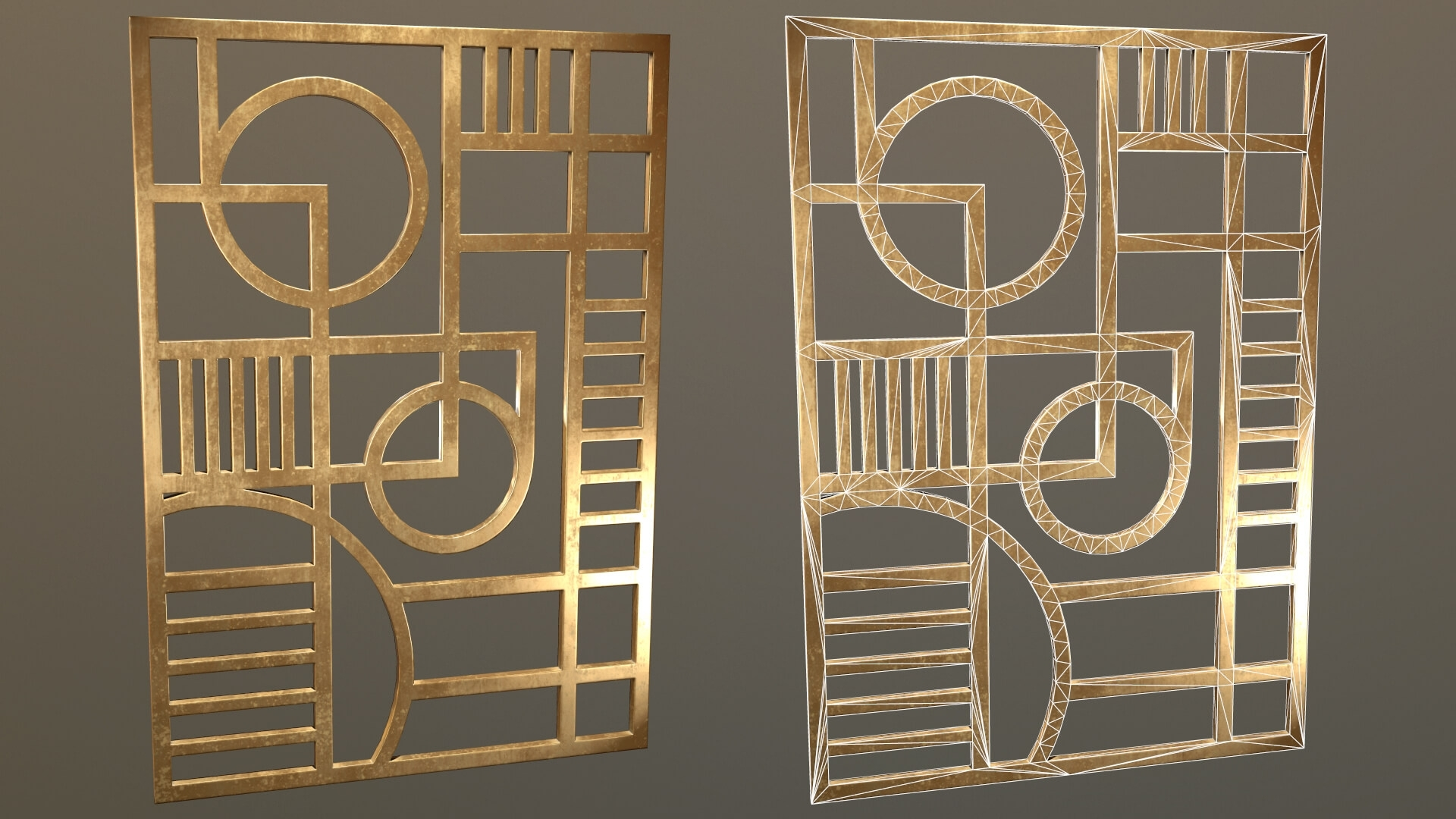 Art Deco Wall Decoration 3d Model With Regard To Art Deco Wall Art (View 11 of 20)