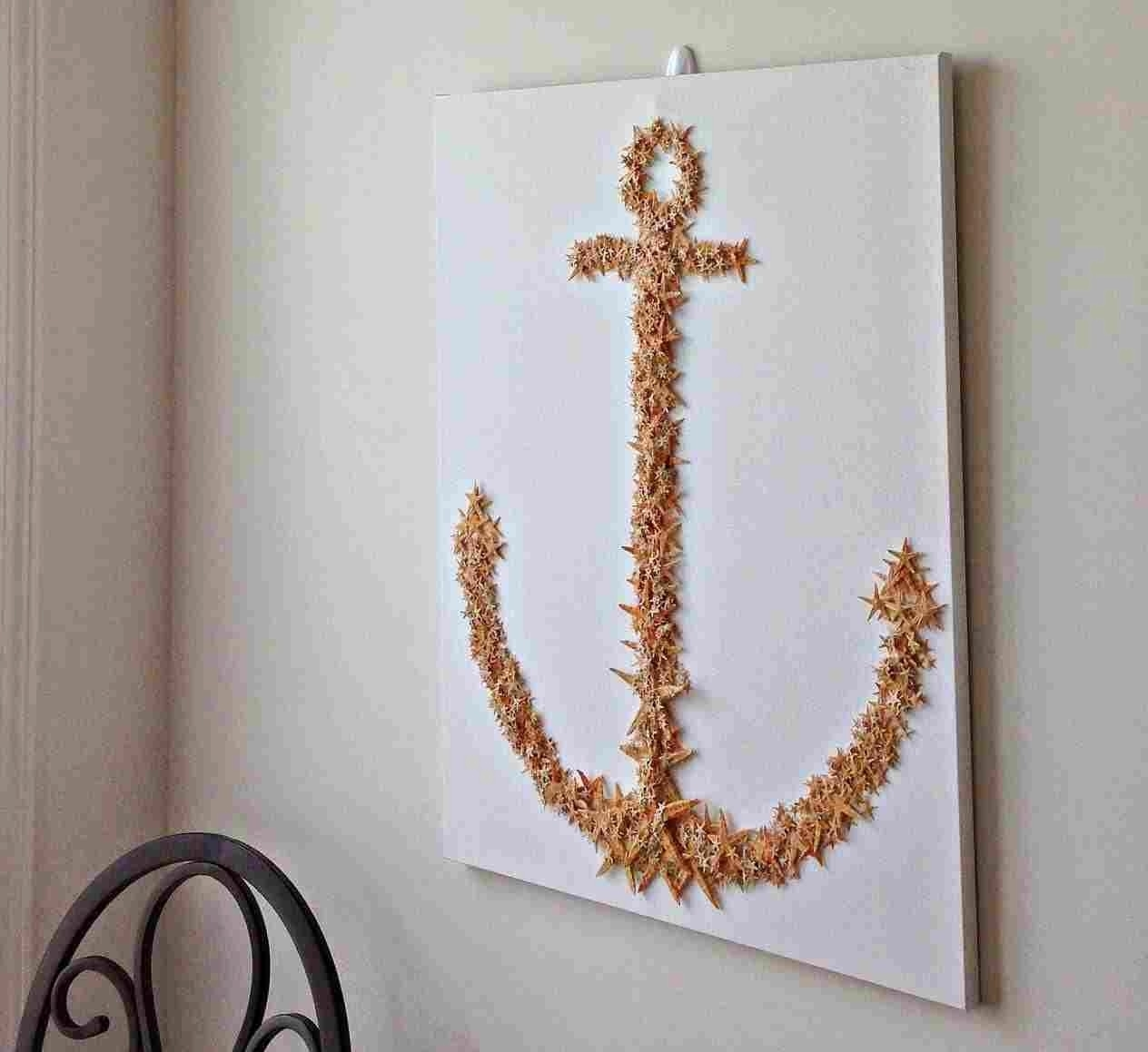 Art Kit Nautical Rhpinterestcom String Diy Anchor Wall Decor inside Anchor Wall Art (Image 7 of 20)