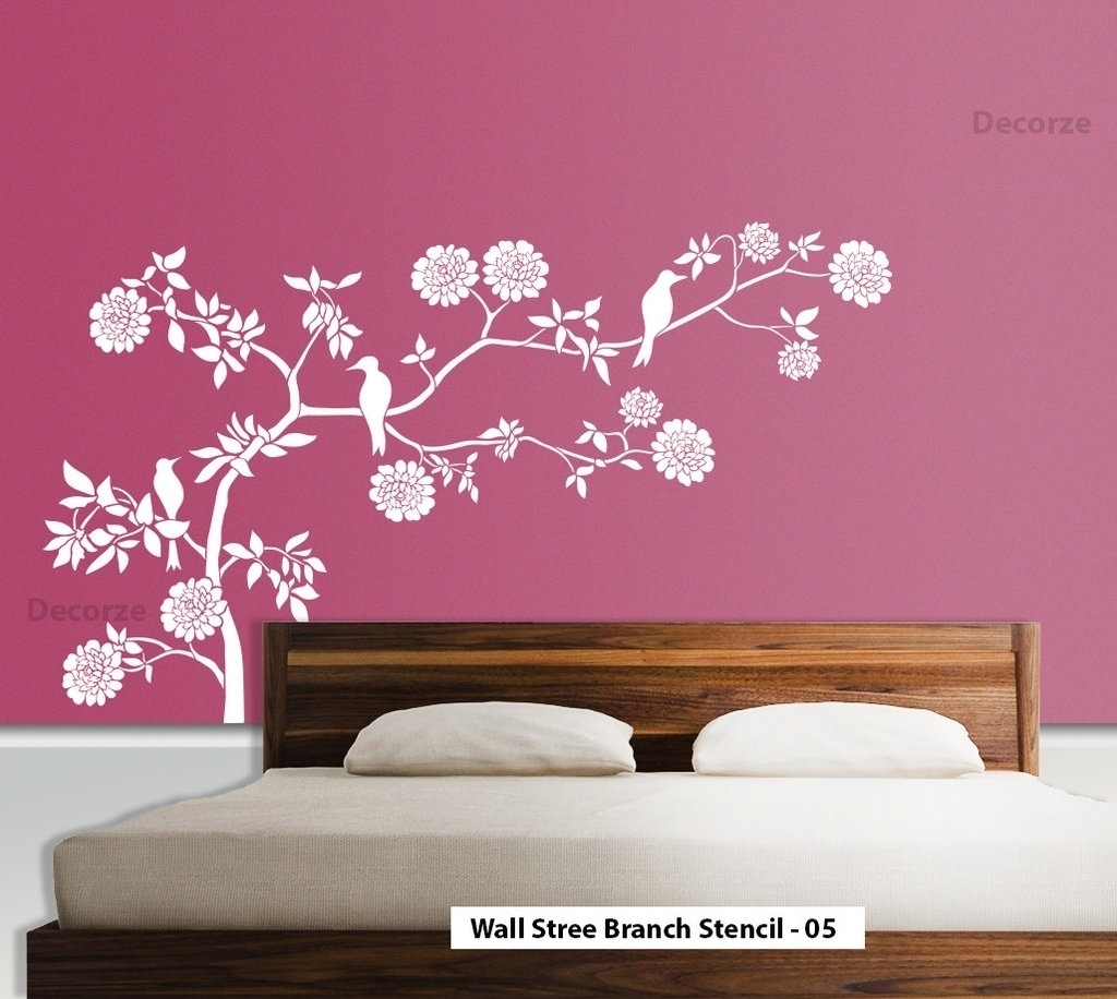 Art Stencils For Wall Art How To Stencil A Focal Wall Determine For Inside Stencil Wall Art (View 2 of 20)