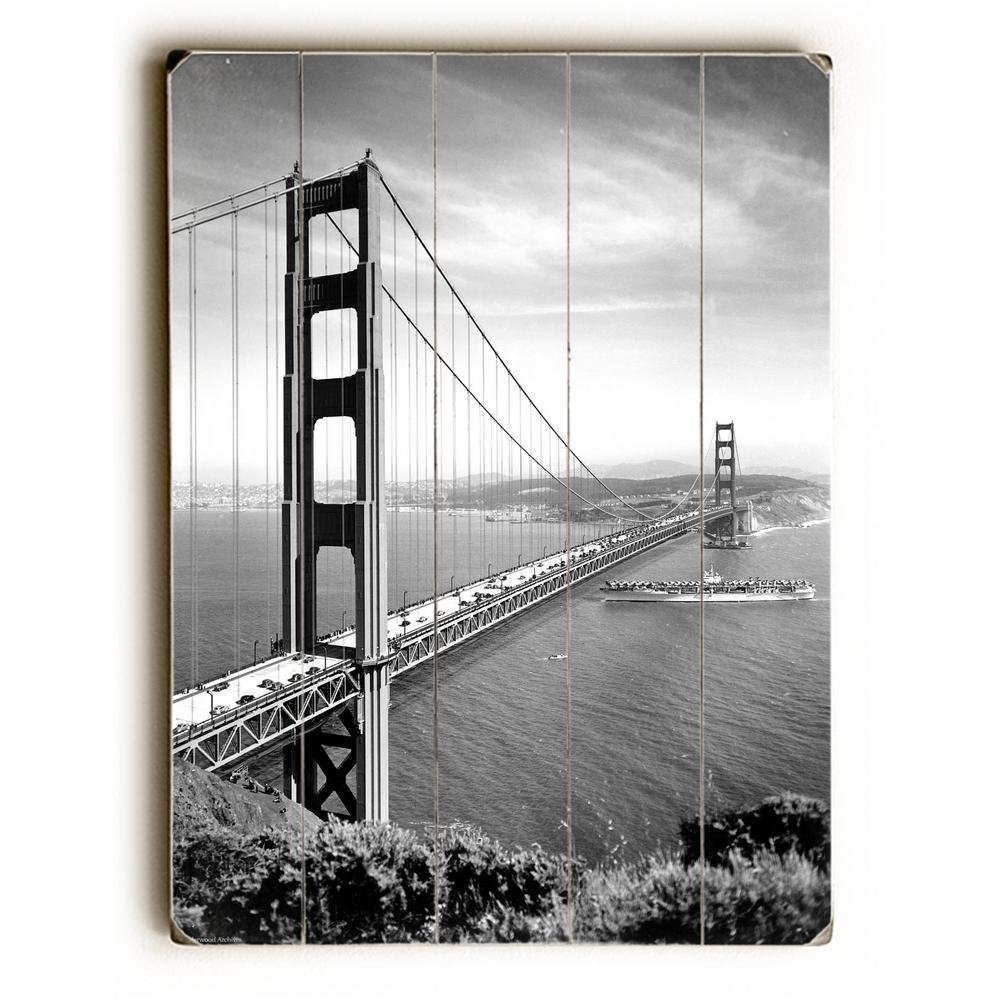 "Artehouse 30 In. X 40 In. ""1937 San Francisco Golden Gate Bridge"" with San Francisco Wall Art (Image 5 of 20)"