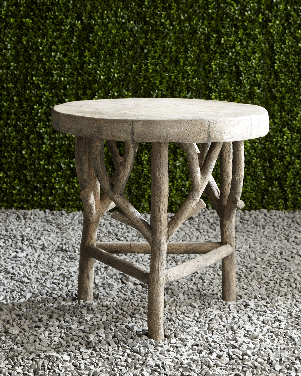 Artemis Faux-Bois Side Table | Neiman Marcus intended for Faux Bois Coffee Tables (Image 5 of 30)