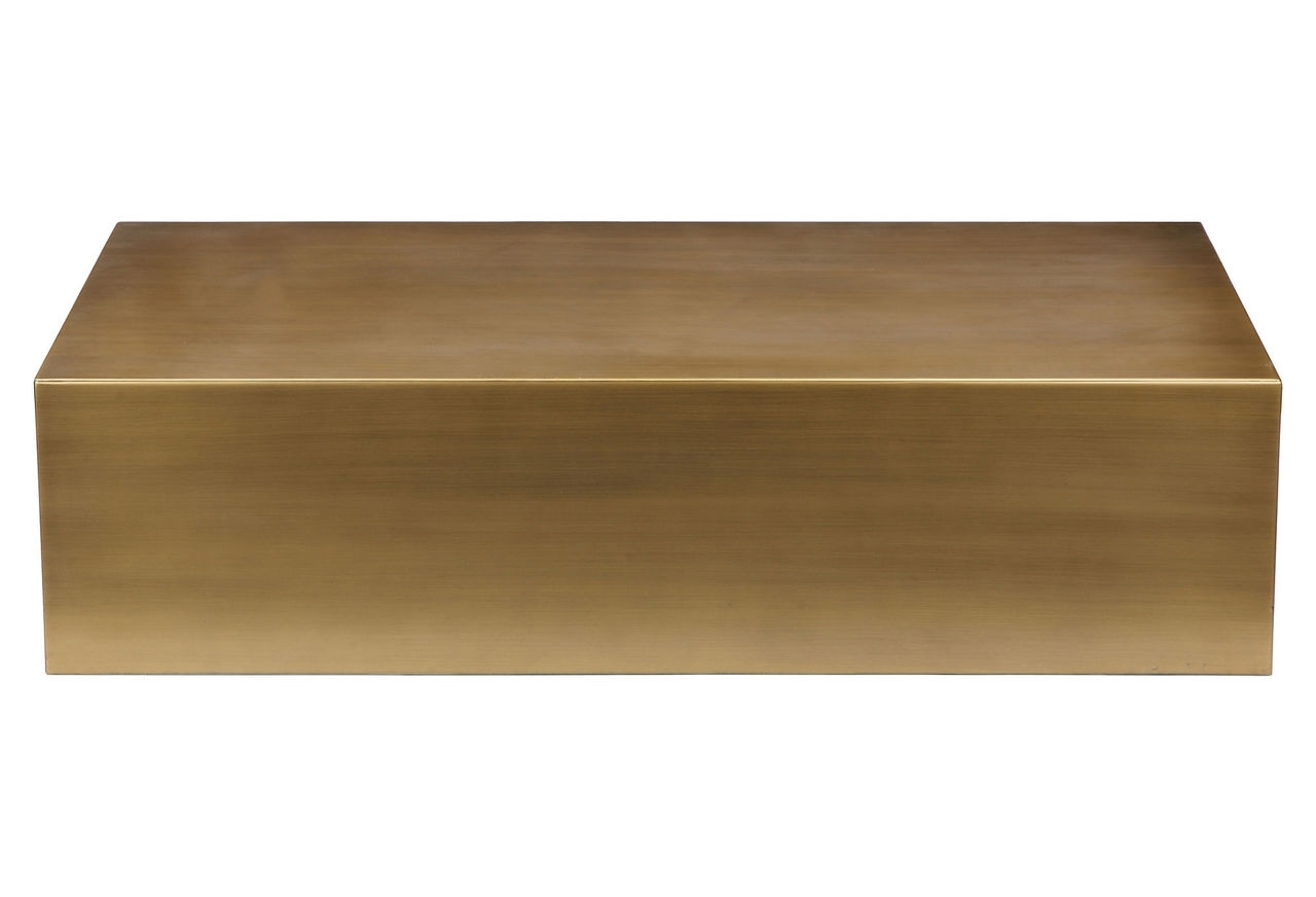 Arteriors Rein Brass Brass Coffee Table Popular Contemporary Coffee within Darbuka Brass Coffee Tables (Image 4 of 30)
