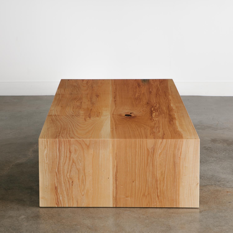 Ash Coffee Table - Elko Hardwoods   Modern Live Edge Furniture with regard to Waterfall Coffee Tables (Image 1 of 30)